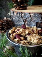 Sweet and Salty Coconut Cran Granola (raw, vegan, gluten-free, nut-free)