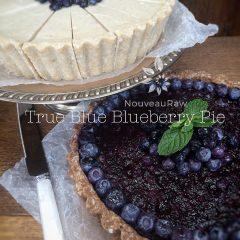 raw, vegan, gluten-free True Blue Blueberry Pie