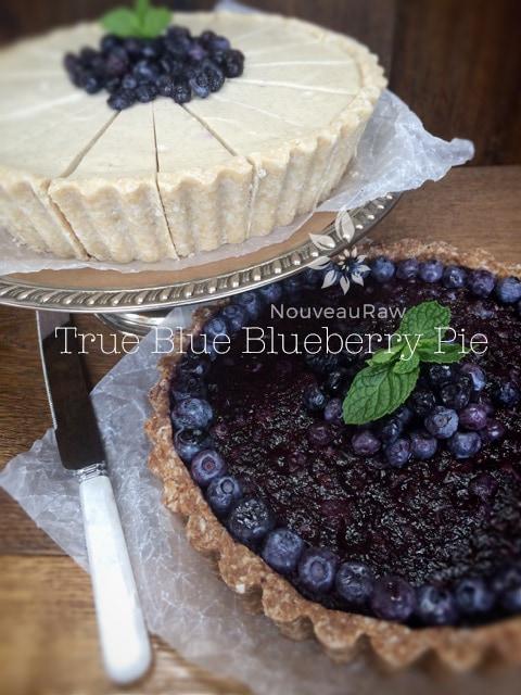 """""""True Blue Blueberry Pie"""" (raw, vegan, gluten-free)"""