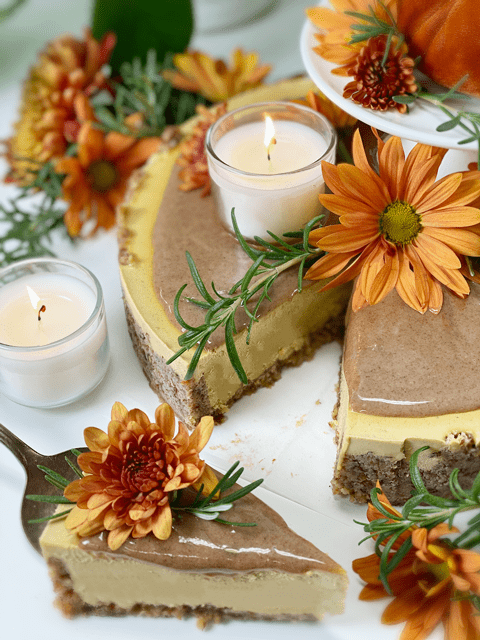 raw vegan gluten-free great pumpkin cheesecake