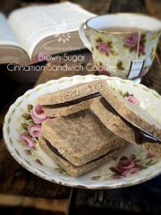 Brown Sugar Cinnamon Sandwich Cookies (raw, vegan, gluten-free)