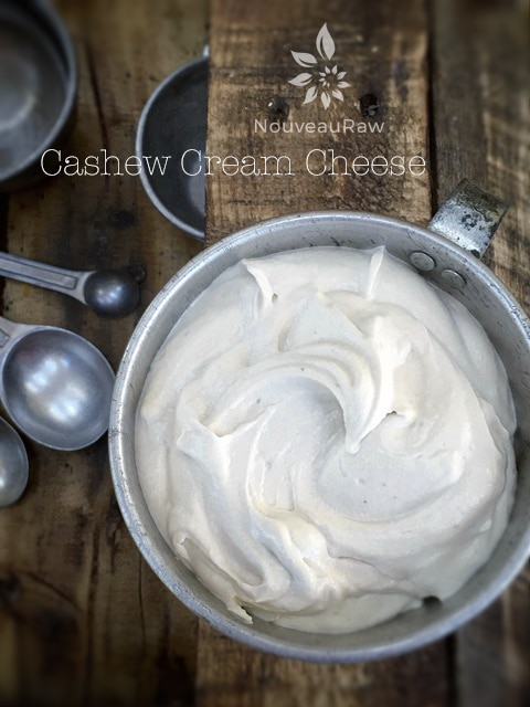 raw, vegan Cream Cheese made from Cashews