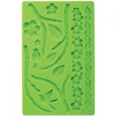 Wilton 409-2565 Fondant and Gum Paste Silicone Mold Nature