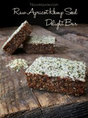 Apricot Hemp Seed Delight Bar (raw, vegan, gluten, nut-free)