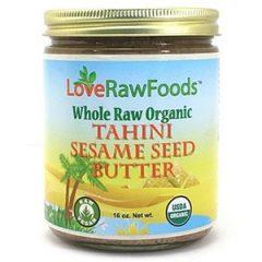 Love Raw Foods Tahini Sesame Seed Butter – Raw 16 oz.