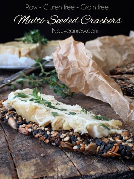 Multi-Seeded Crackers (raw, vegan, gluten-free, nut-free)
