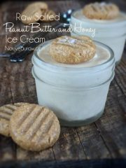 Salted Peanut Butter and Honey Ice Cream (raw, gluten-free)