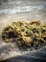 Spicy Sriracha Cream Kale Chips (raw, vegan, gluten-free)
