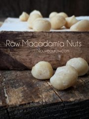 Macadamia Nuts, Soaking and Drying