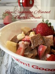 Cinnamon Almond Butter Cereal (raw, vegan, gluten-free)