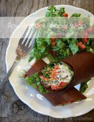 Red Bell Pepper Wrap (raw, vegan, gluten-free, nut-free)