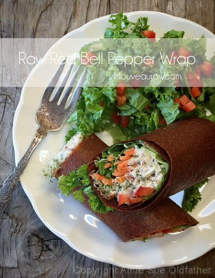 Selected Exquisite Raw Vegan Food Recipes To Enjoy-Raw-Red-Bell-Pepper-Wrap-1
