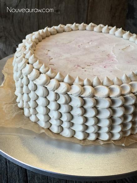 Frosting your Gluten-free, Raw, Vegan Red Velvet Cake