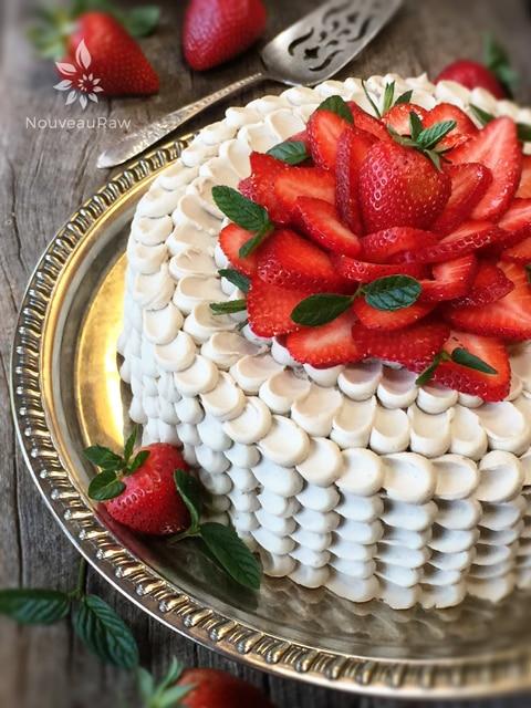 Nouveau Raw's delicious Gluten-free, Raw, Vegan Red Velvet Cake