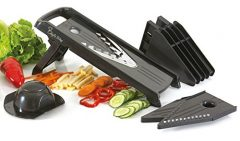 Chef's Way Mandoline Slicer – Professional Kitchen V-Slicer + Bonus Recipes – Vegetable & Fruits, Food Cutter, Chopper & Slicer – Stainless Steel Sharp Blade