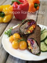 Bell Pepper Rainbow Wrap (raw, vegan, gluten-free, nut-free)