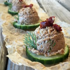 Raw, gluten free, vegan Sun-Dried Tomato Pate and Cucumber Horderves