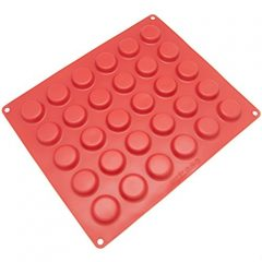 Freshware CB-116RD 30-Cavity Silicone Mold for Chocolate, Candy, Cookie, Gummy, and More