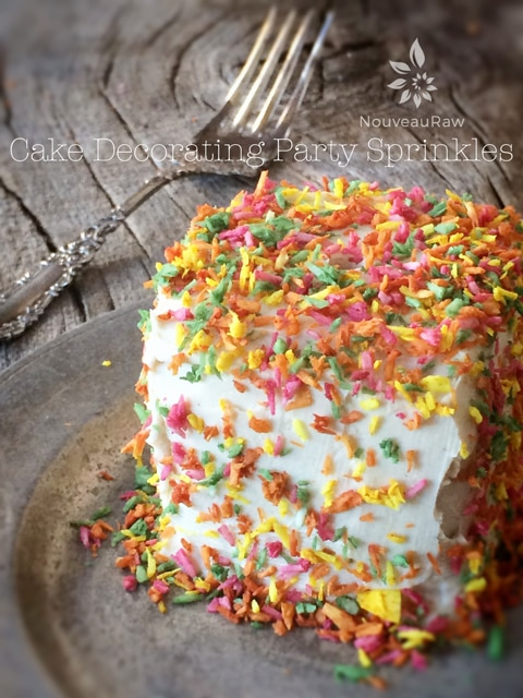 Raw Cake Decorating Party Sprinkles