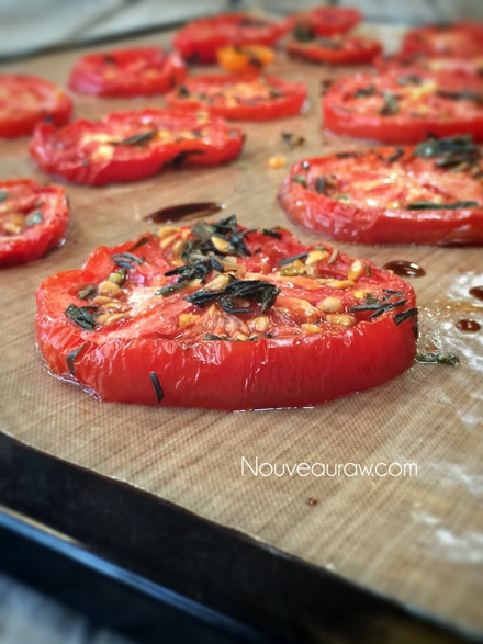 a close up of dehydrated tomatoes