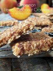 Cinnamon Peach Coconut Crackers (raw, vegan, gluten-free, nut-free)
