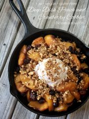 Deep Dish Peach and Cranberry Cobbler (raw, vegan, gluten-free)