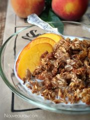 Soft n' Chewy Pecan Peach Granola Cereal (raw, vegan, gluten-free)