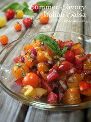 Summer Savory Italian Salsa (raw, vegan, gluten-free, nut-free)
