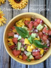Watermelon and Basil Salsa (raw, vegan, gluten-free, nut-free)