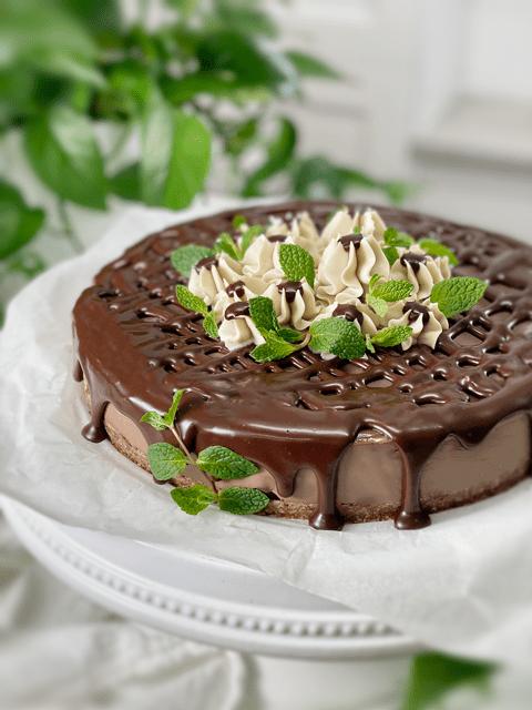 raw vegan gluten-free black forest cheesecake