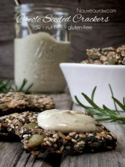 Creole Seeded Crackers (raw, vegan, gluten-free, nut-free)