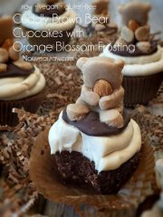 Cuddly Brown Bear Cupcakes with Orange Blossom Frosting (raw, vegan, gluten-free)
