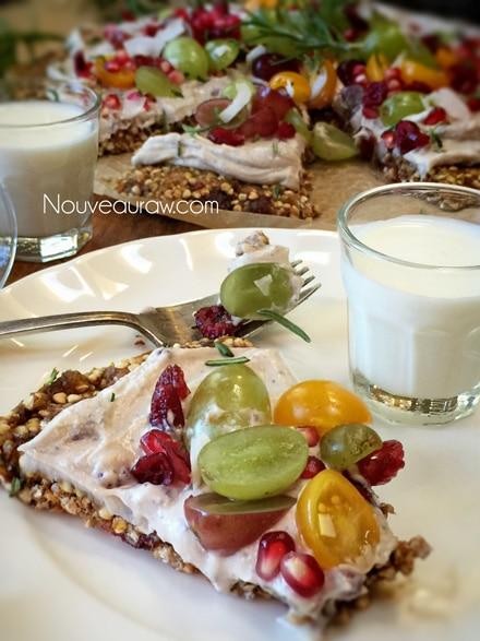 Breakfast Pizza with Granola Crust (raw, nut-free, vegan) | Nouveau ...