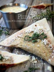 Pizza Ravioli (raw, vegan, gluten-free, nut-free)