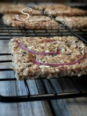 Sweet Onion Sesame Crackers (raw, vegan, gluten-free)