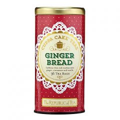 The Republic Of Tea Gingerbread Cuppa Cake Rooibos Red Tea, 36 Tea Bag Tin