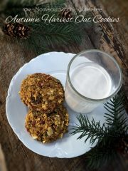Autumn Harvest Oat Cookies (raw, vegan, gluten-free)