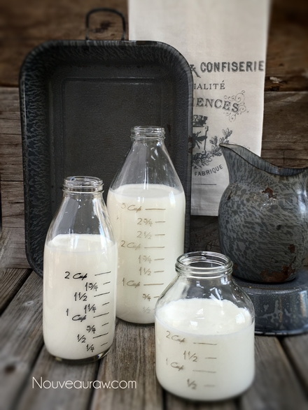 Raw Coconut Milk / Cream using shredded coconut Recipe