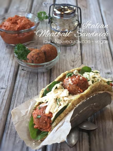 Vegan Gluten Free Italian Meatball Sandwich
