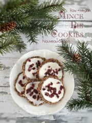 Mince Pie Cookies with Coconut Icing (raw, vegan, gluten-free)