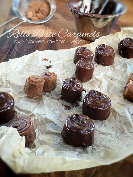 Mouth Watering Deserts Raw Gluten-Free Rollo Date Caramels, so Good