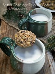 Salted Ginger and Pistachio Cookies (high-raw, vegan, gluten-free)