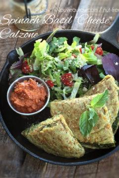 Vegan Spinach Basil Calzone