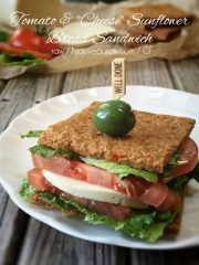 "Tomato & ""Cheese"" on Sunflower Bread (raw, gluten-free, vegan, nut-free)"