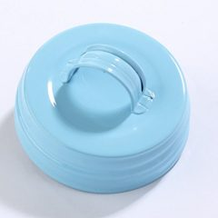 Package of 6 Small Mouth Canning Jar Lids with Handle in Soft Baby Blue