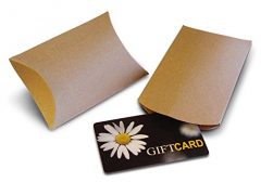 Kraft Pillow Boxes for Gift Cards (50 Pack)