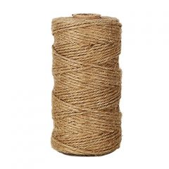 KINGLAKE® Natural Jute Twine Best Arts Crafts Twine Industrial Packing Materials Heavy Duty Durable Natural Twine 300 Feet for Gardening Applications