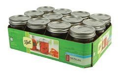 Ball Regular Mouth Half Pint Jars with Lids and Bands, Set of 12