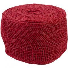 Jute Ribbon 4″X 10 Yards-Red