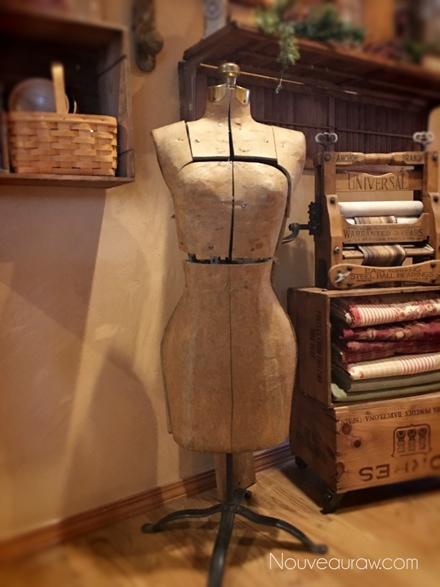 an antique dress form